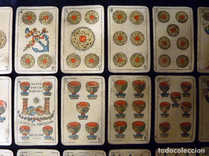 Barajas de cartas: ANTIGUA BARAJA JUAN ROURA. LA HISPANO-AMERICANA. BARCELONA. 40 NAIPES. REPÚBLICA. CIRCA 1932. USADA - Foto 7 - 101935967
