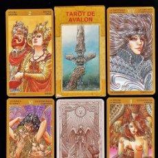 Barajas de cartas: TAROT DE AVALON - LO SCARABEO - REY ARTURO. Lote 102685167