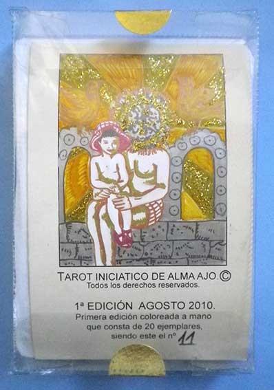 TAROT INICIATICO DE ALMA AJO, 22 ARCANOS MAYORES, 11ª BARAJA COLOREADA A MANO, EDICION 2010 (Juguetes y Juegos - Cartas y Naipes - Barajas Tarot)