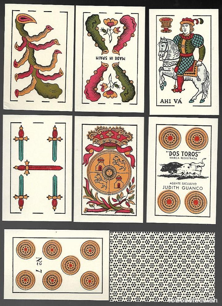 Barajas de cartas: BARAJA PANGUINGUE LOS DOS TOROS, JUAN ROURA, 240 CARTAS DE 1940. - Foto 2 - 102826947