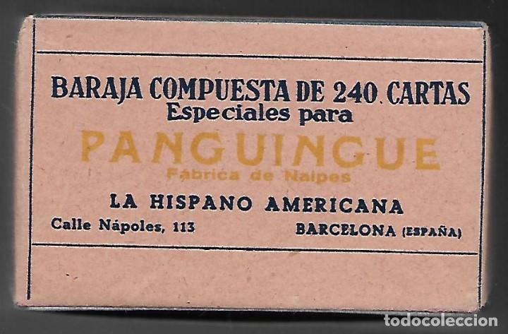 Barajas de cartas: BARAJA PANGUINGUE LOS DOS TOROS, JUAN ROURA, 240 CARTAS DE 1940. - Foto 3 - 102826947