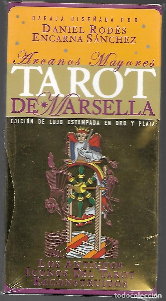 TAROT DE MARSELLA LEMAT, EDICION DE LUJO ESTAMPADA EN ORO Y PLATA, ARCANOS MAYORES. PRECINTADO. (Juguetes y Juegos - Cartas y Naipes - Barajas Tarot)