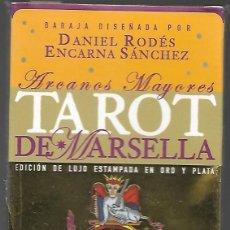 Barajas de cartas: TAROT DE MARSELLA LEMAT, EDICION DE LUJO ESTAMPADA EN ORO Y PLATA, ARCANOS MAYORES. PRECINTADO.. Lote 205699876
