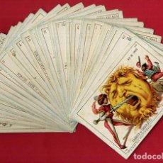 Barajas de cartas - BARAJA CHOCOLATES EL BARCO, LA GRANDE, COMPLETA , 48 NAIPES 8 X 11,5 CMS. CROMOLITOGRAFICA ANTIGUA - 103499159