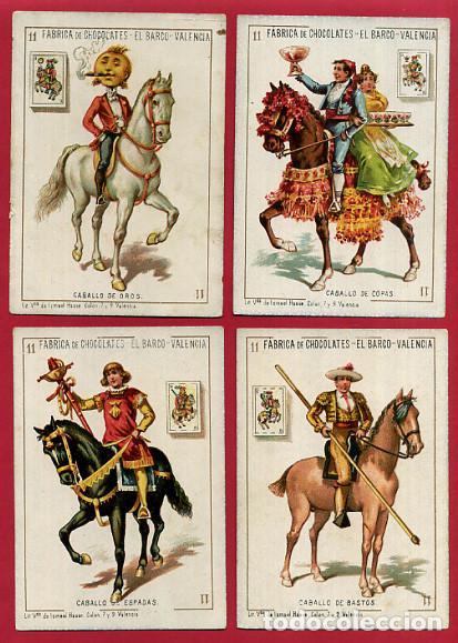 Barajas de cartas: BARAJA CHOCOLATES EL BARCO, LA GRANDE, COMPLETA , 48 NAIPES 8 X 11,5 CMS. CROMOLITOGRAFICA ANTIGUA - Foto 13 - 103499159