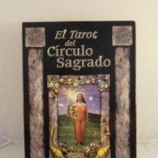 Barajas de cartas: BARAJA DE CARTAS EL TAROT DEL CIRCULO SAGRADO, ANNA FRANKLIN, PAUL MASON, LIBRO Y CARTAS. Lote 105251759