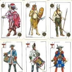 Barajas de cartas: BARAJA ESPAÑOLA TRAJES MILITARES DE CLESA-AÑO 1976. Lote 103632111
