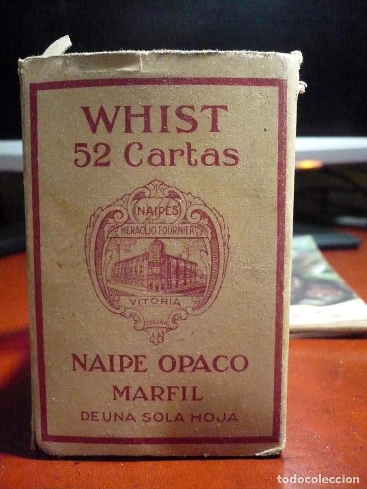 WHIST , CARTAS VIUDA E HIJOS FOURNIER (Juguetes y Juegos - Cartas y Naipes - Baraja Española)
