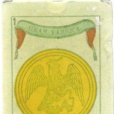 Barajas de cartas - ANTIGUA BARAJA ESPAÑOLA LA CAMPANA - MEXICO SIGLO XIX - NUEVA - CERTIFICADO COLECCION FOURNIER - 103719383