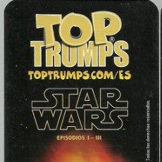Barajas de cartas: BARAJA DE CARTAS TOP TRUMPS STAR WARS - EPISODIOS I - III - NUEVA . Lote 133700877