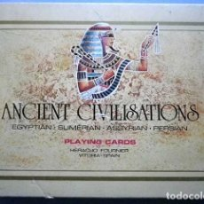 Barajas de cartas: BARAJA POKER ANCIENT CIVILISATIONS EGYPTIAN,SUMERIAN, ASSYRIAN, PERSIAN, HERACLIO FOURNIER AÑOS 70. Lote 103731051