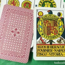 Barajas de cartas: ANTIGUA BARAJA DE HERACLIO FOURNIER (VITORIA) - AÑO 1936 - CON EL ENVOLTORIO DE LOS NAIPES. Lote 103753839