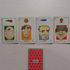Barajas de cartas: BARAJA DE CARTAS HERACLIO FOURNIER CARICATURAS COMUNIDAD DE MADRID 40 CARTAS NAIPES NUEVA. Lote 103882415