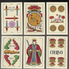 Barajas de cartas: BARAJA EL CIERVO 1951, HIJA DE A. COMAS, T. EXPORTACION. 40 CARTAS, SIN INDICES. SIN ESTRENAR.. Lote 200851582