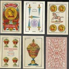 Barajas de cartas: BARAJA EL CABALLO MODELO CADIZ CASTELLANO AÑO 1907, L. GUARRO, 40 CARTAS, SIN ESTRENAR.. Lote 103929487