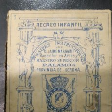 Barajas de cartas: BARAJA SILABICA , NAIPES POR JAIME MARGARIT, PALAMOS , PROVINCIA GERONA ,FINALES S.XIX. Lote 103953963