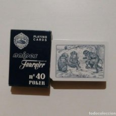 Barajas de cartas: BARAJA DE CARTAS HERACLIO FOURNIER POKER Nº40 MONOS NAIPES NUEVA 55 CARTAS. Lote 103991511