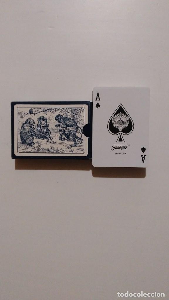Barajas de cartas: BARAJA DE CARTAS HERACLIO FOURNIER POKER Nº40 MONOS NAIPES NUEVA 55 CARTAS - Foto 2 - 103991511