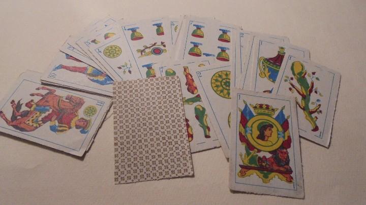 Barajas de cartas: BARAJA MINIATURA ESPAÑOLA 40 CARTAS , - 6X3,8 CM. COMPLETA - Foto 2 - 104183399