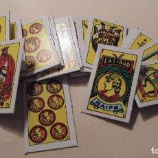 Barajas de cartas: BARAJA ESPAÑOLA DE MINIATURA - CALIDAD NAIPES - 40 CARTAS - COMPLETA 5X3,3 CM. . Lote 104188711