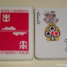 Barajas de cartas: BARAJA DE CARTAS DE PÓKER. NAVIERA BARCOS CRUCEROS ROYAL CARIBBEAN. 90 GR. Lote 104558771