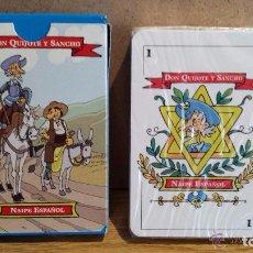 Barajas de cartas: BARAJA ESPAÑOLA. DON QUIJOTE Y SANCHO. SUPERFICIE PLÁSTICA. 50 CARTAS. PRECINTADA SIN ABRIR.. Lote 108816868