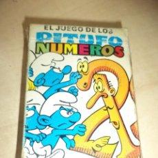 Barajas de cartas: BARAJA PITUFOS. EL JUEGO DE LOS PITUFO NÚMEROS.EDICIONES RECREATIVAS.PEYO 1983.. Lote 104769351