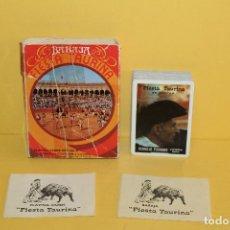 Barajas de cartas: BARAJA DE CARTAS - FIESTA TAURINA 55 CARTAS - HERACLIO FOURNIER. Lote 104959131