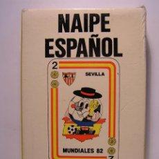 Barajas de cartas: BARAJA DE CARTAS (NAIPES) - NAIPE ESPAÑOL -: MUNDIALES 82 (MUNDIAL DE FUTBOL ESPAÑA 82). SIN USAR. Lote 105093507
