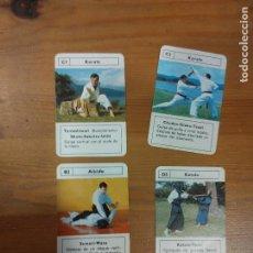 Barajas de cartas: 4 CARTAS BARAJA ( LOS MINIS DE FOURNIER ) ARTES MARCIALES - 1978 . Lote 105105551