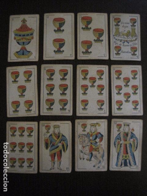 Barajas de cartas: BARAJA TORRAS Y LLEO - BARCELONA - COMPLETA 48 CARTAS - VER FOTOS - (V-12.854) - Foto 5 - 105191299