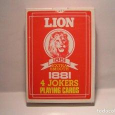 Barajas de cartas: BARAJA DE CARTAS (NAIPES DE POKER : LION 1881 PLAYING CARDS MALAYSIA NUEVAS- . Lote 105265747