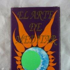 Barajas de cartas: EL ARTE DE MEDITAR - BARAJA TAROT - YOLANDA ESPADA - VALENCIA - 63 CARTAS DE ANGELES. Lote 105297391