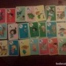 Barajas de cartas: 21 NAIPES FAMILIA TELERÍN DE RTVE AÑOS 70. Lote 105330255
