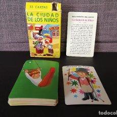 Barajas de cartas: BARAJA CARTAS LA CIUDAD DE LOS NIÑOS SALDAÑA ORTEGA. Lote 105333551