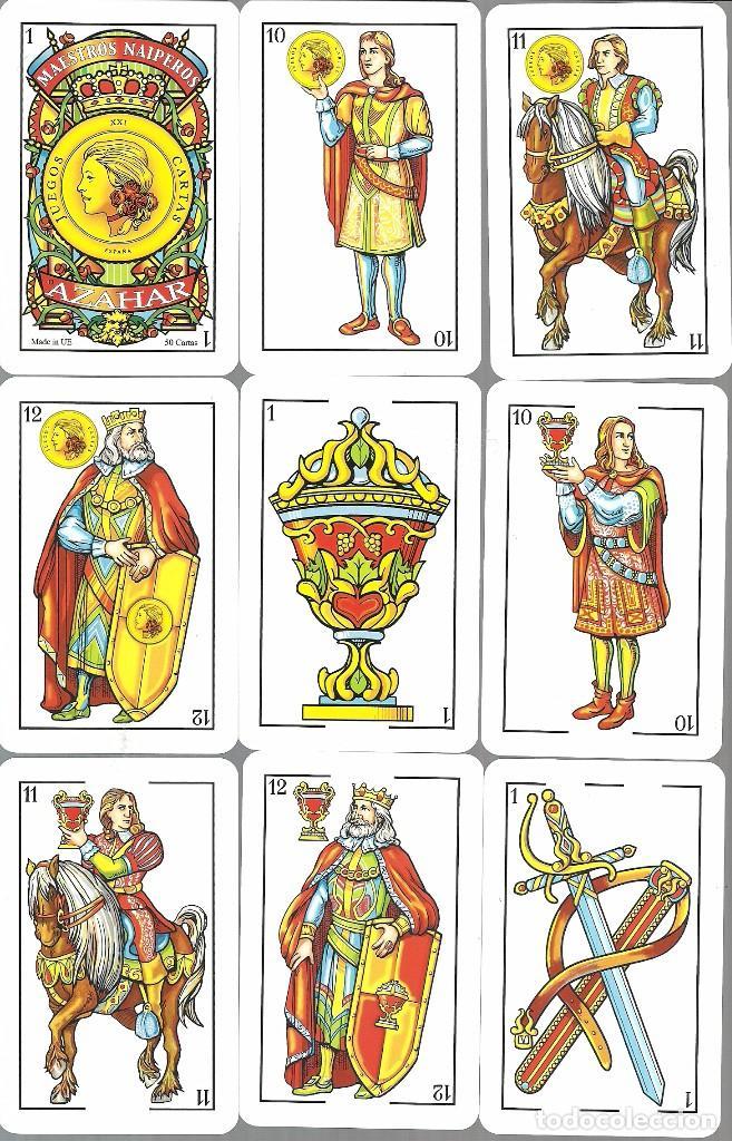 Barajas de cartas: BARAJA ESPAÑOLA MAESTROS NAIPEROS AZAHAR - NUEVA EN SU CAJA DE METACRILATO - Foto 2 - 105622775