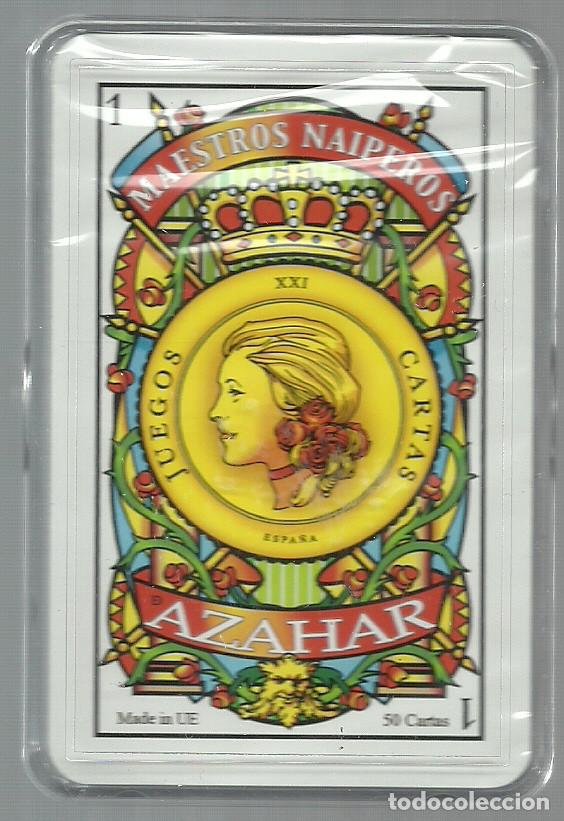Barajas de cartas: BARAJA ESPAÑOLA MAESTROS NAIPEROS AZAHAR - NUEVA EN SU CAJA DE METACRILATO - Foto 3 - 105622831