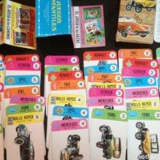 Barajas de cartas: EL JUEGO DE LOS COCHES, COMPLETO, CON INSTRUCCIONES Y PUBLICIDAD. Lote 105695908
