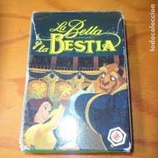 Barajas de cartas: LA BELLA Y LA BESTIA DISNEY- BARAJA DE CARTAS COMPLETA HERACLIO FOURNIER . Lote 105925615