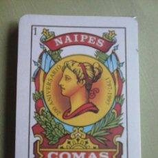 Barajas de cartas: BARAJA ESPAÑOLA NAIPES COMAS Nº 57. PRECINTADA. NUEVA. Lote 106092175