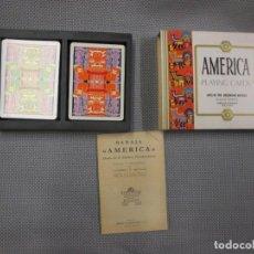 Barajas de cartas: BARAJA AMERICA, AMÉRICA PRECOLOMBINA - AMERICAN PLAYING CARDS - HERACLIO FOURNIER + INFO. Lote 106322811