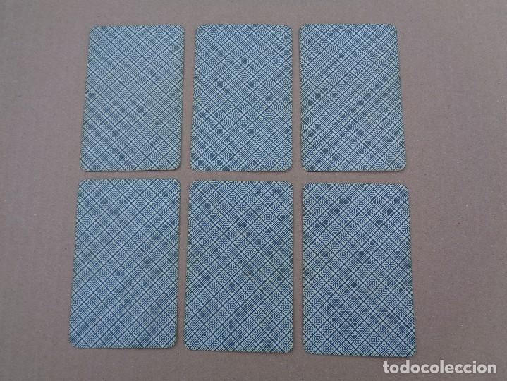 Barajas de cartas: BARAJA SEBASTIAN COMAS Y RICART, COMPLETA, 48 NAIPES., TIMBRE 30 CENTIMOS. REVERSO AZUL - Foto 3 - 106579827
