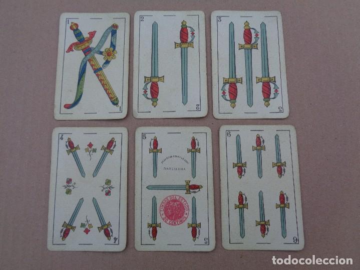 Barajas de cartas: BARAJA SEBASTIAN COMAS Y RICART, COMPLETA, 48 NAIPES., TIMBRE 30 CENTIMOS. REVERSO AZUL - Foto 10 - 106579827