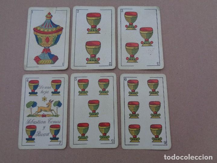 Barajas de cartas: BARAJA SEBASTIAN COMAS Y RICART, COMPLETA, 48 NAIPES., TIMBRE 30 CENTIMOS. REVERSO AZUL - Foto 14 - 106579827