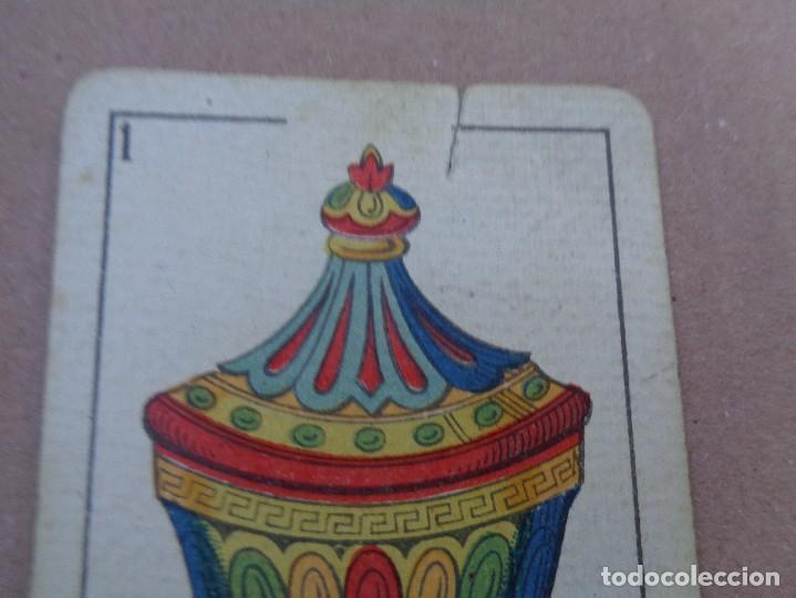 Barajas de cartas: BARAJA SEBASTIAN COMAS Y RICART, COMPLETA, 48 NAIPES., TIMBRE 30 CENTIMOS. REVERSO AZUL - Foto 15 - 106579827
