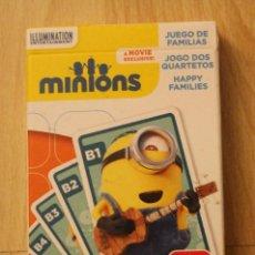 Barajas de cartas: BARAJA MINIONS JUEGO DE FAMILIAS. Lote 156474673