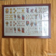 Barajas de cartas: BARAJA SIMEON DURA SIN RECORTAR Y ENMARCADA. Lote 106794199
