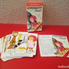 Barajas de cartas: ANTIGUA BARAJA INFANTIL JUEGO 33 CARTAS HERACLIO FOURNIER HF CAPERUCITA ROJA. Lote 106957215