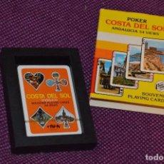 Barajas de cartas: VINTAGE - BARAJA DE POKER COSTA DEL SOL - PRECINTADA - SOUVENIR - ANDALUCIA - NAIPES COMAS - AÑOS 70. Lote 107044491