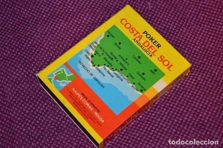 Barajas de cartas: VINTAGE - BARAJA DE POKER COSTA DEL SOL - PRECINTADA - SOUVENIR - ANDALUCIA - NAIPES COMAS - AÑOS 70 - Foto 12 - 107044491